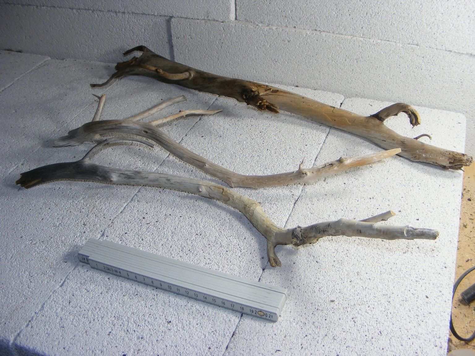 3 stk treibholz schwemmholz vom strand driftwood. Black Bedroom Furniture Sets. Home Design Ideas